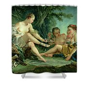 Diana After The Hunt Shower Curtain by Francois Boucher