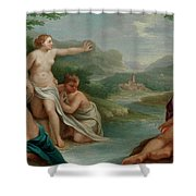 Diana And Actaeon Shower Curtain
