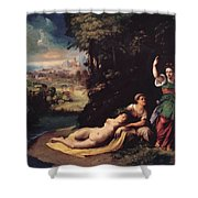 Diana And Calisto 1528 Shower Curtain