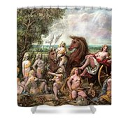 Diana And Entourage Shower Curtain