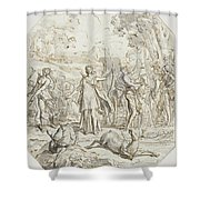 Diana And Her Nymphs Hunting Shower Curtain