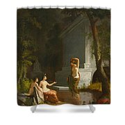 Diana At The Fountain Shower Curtain