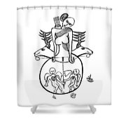 Diane A La Chasse Shower Curtain