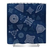 Diatoms Shower Curtain