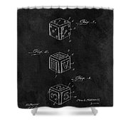 Dice Cube Patent Shower Curtain