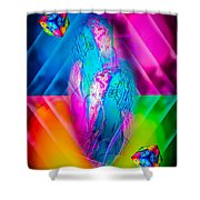 Dice  Game - Wellness 2 Shower Curtain