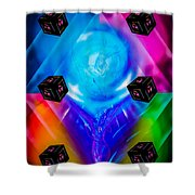 Dice  Game - Funny World 2 Shower Curtain