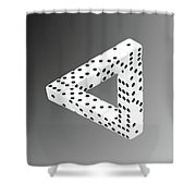 Dice Illusion Shower Curtain