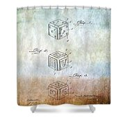 Dice Patent Shower Curtain