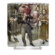 Dickens: A Christmas Carol Shower Curtain