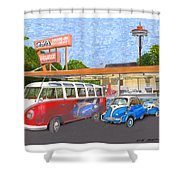Dicks Drive In Seattle Shower Curtain