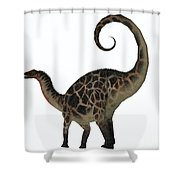 Dicraeosaurus Dinosaur Tail Shower Curtain