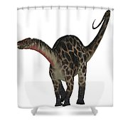 Dicraeosaurus On White Shower Curtain