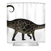 Dicraeosaurus Side Profile Shower Curtain