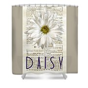 Dictionary Daisy Shower Curtain