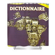 Dictionary Of Negroafrican Celebrities 1 Shower Curtain