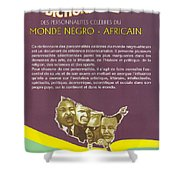 Dictionary Of Negroafrican Celebrities 2 Shower Curtain