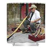 Didgeridoo Performer Shower Curtain