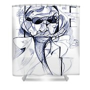 Diego At The Door Shower Curtain