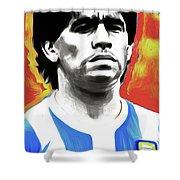 Diego Maradona By Nixo Shower Curtain