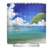 Different Point Of View Shower Curtain