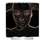 Dig Face Shower Curtain