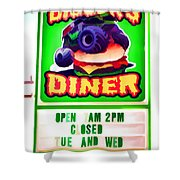 Digger's Diner Shower Curtain