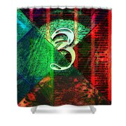 Digit 3 Shower Curtain