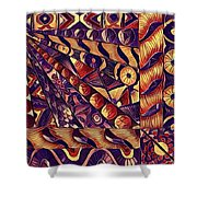 Digital Abstract 1 Shower Curtain