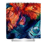 Digital Abstract 2 Shower Curtain