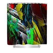 Digital Abstraction 070611 Shower Curtain