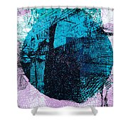 Digital Abstraction Shower Curtain
