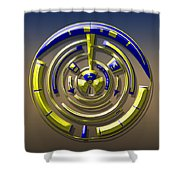 Digital Art Dial 5 Shower Curtain