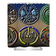 Digital Art Dials Shower Curtain