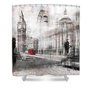 Digital-art London Composing Shower Curtain