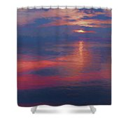 digital art   SUNSET SEASIDE Shower Curtain