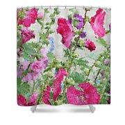 Digital Artwork 1417 Shower Curtain