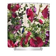 Digital Artwork 1418 Shower Curtain