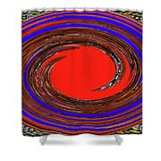 Digital Blue Red Plate Special Shower Curtain