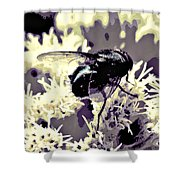 Digital Bottle Fly Shower Curtain