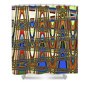 Digital Broad Paint Abstract Shower Curtain