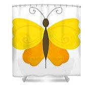 Digital Butterfly Shower Curtain