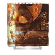 Digital Collage  Shower Curtain