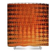 Digital Copper Plate Abstract Shower Curtain