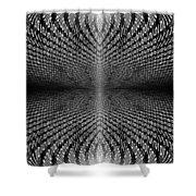 Digital Divide Vortex Shower Curtain
