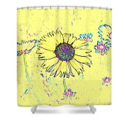 Digital Drawing 1 Shower Curtain
