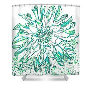 Digital Drawing 3 Shower Curtain