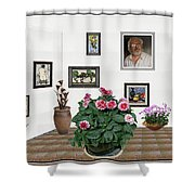 Digital Exhibartition _ Plant 12 Shower Curtain