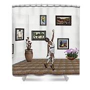 Digital Exhibition _ Dancing Girl  Shower Curtain