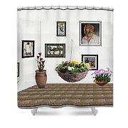 digital exhibition _ Flower basket 22 Shower Curtain